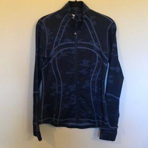 Lululemon Define Jacket- Lotus Blue Camo size 8